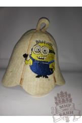 детская шапка  Миньон Боб