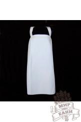 Вафельный сарафан для бани Классика ( белый )