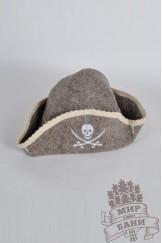Шапка для бани Пират